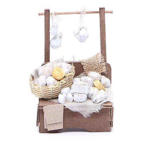 Cheese stall for Neapolitan Nativity measuring 13x13x6cm 1