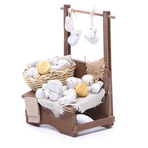 Cheese stall for Neapolitan Nativity measuring 13x13x6cm 2