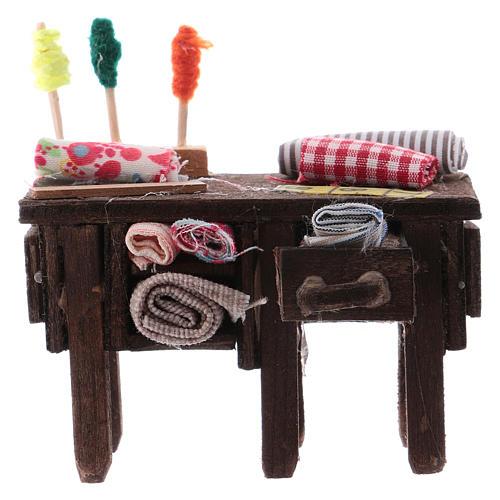 Tailor's table for Neapolitan Nativity measuring 8cm 1