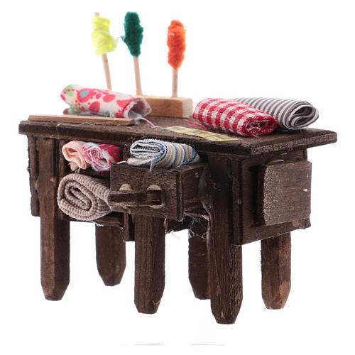 Tailor's table for Neapolitan Nativity measuring 8cm 2