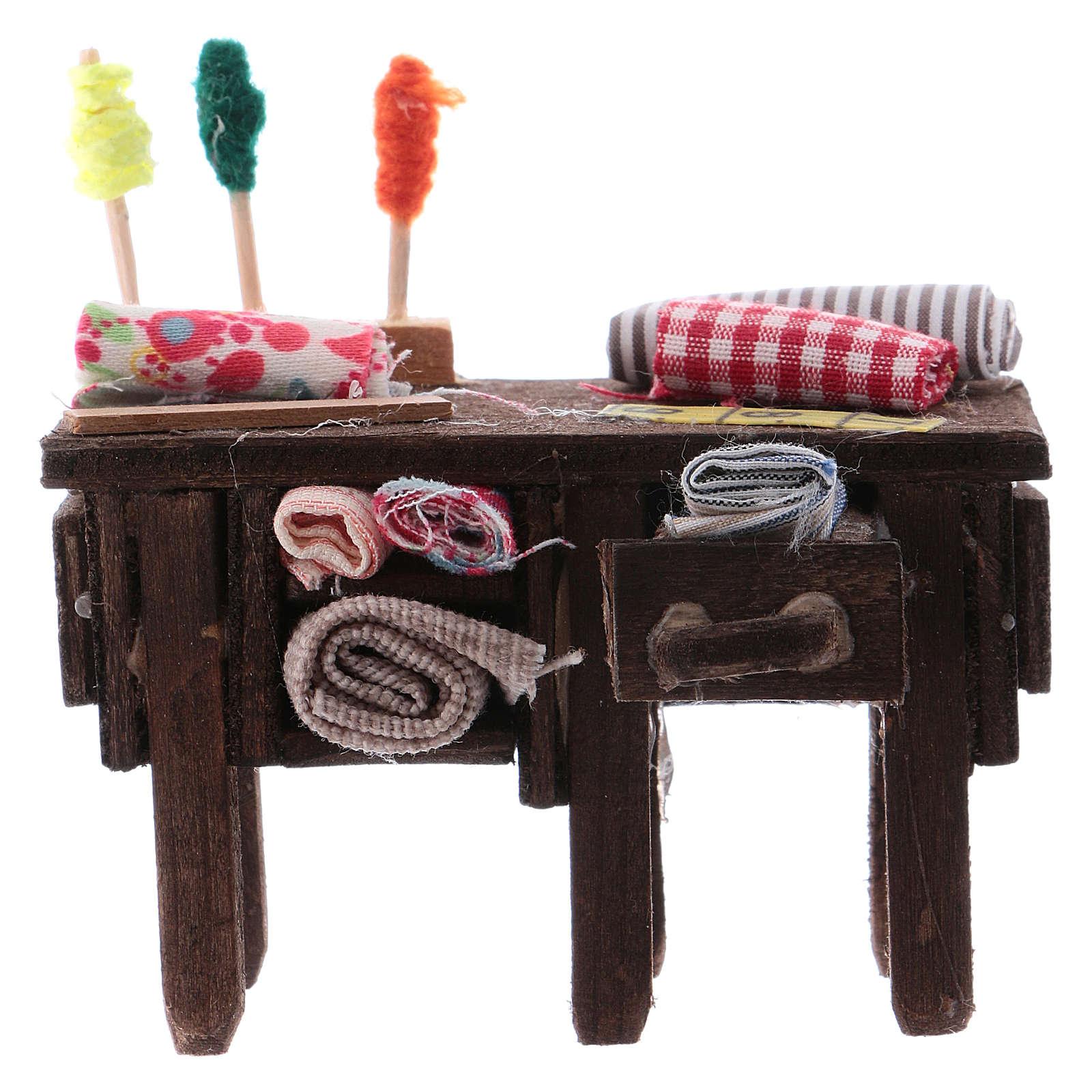 Tailor's table for Neapolitan Nativity measuring 8cm 4