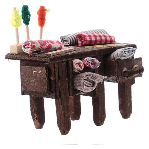 Tailor's table for Neapolitan Nativity measuring 8cm 3