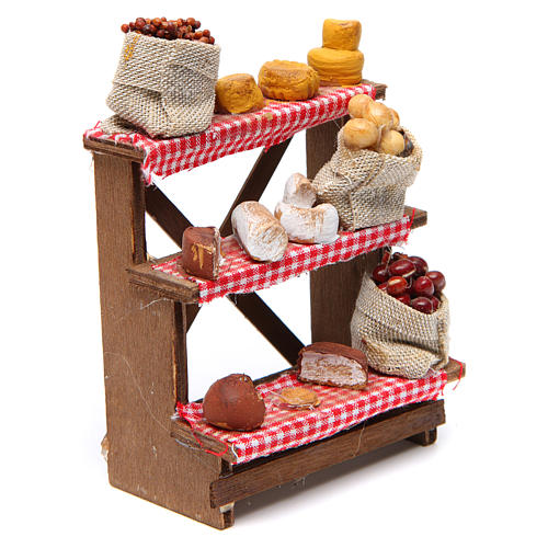 Nuts and olives stall for Neapolitan Nativity measuring 16x12x10cm 3
