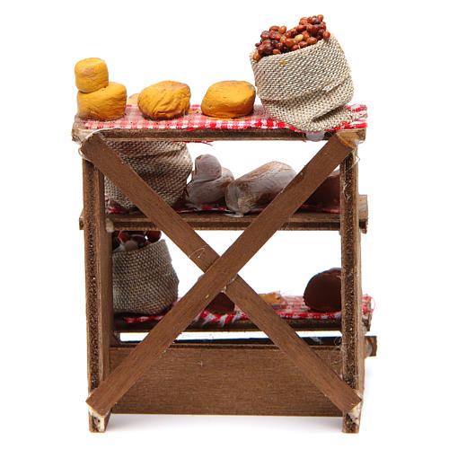 Nuts and olives stall for Neapolitan Nativity measuring 16x12x10cm 4