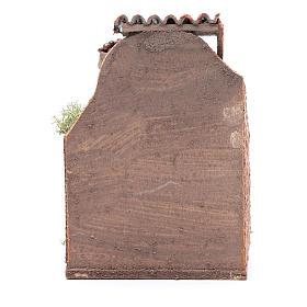 Banco noci e olive 10x8x4 cm presepe napoletano s4