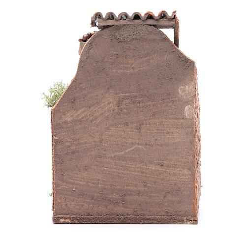 Banco noci e olive 10x8x4 cm presepe napoletano 4