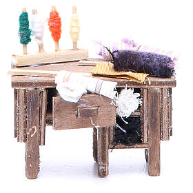 Tailor's table for Neapolitan Nativity measuring 8x9x5cm s1