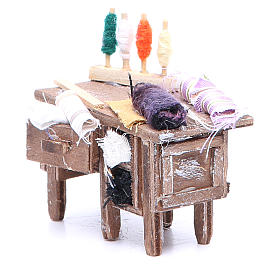 Tailor's table for Neapolitan Nativity measuring 8x9x5cm s2