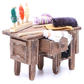 Tailor's table for Neapolitan Nativity measuring 8x9x5cm s3
