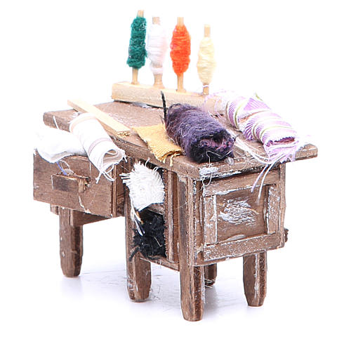 Tailor's table for Neapolitan Nativity measuring 8x9x5cm 2