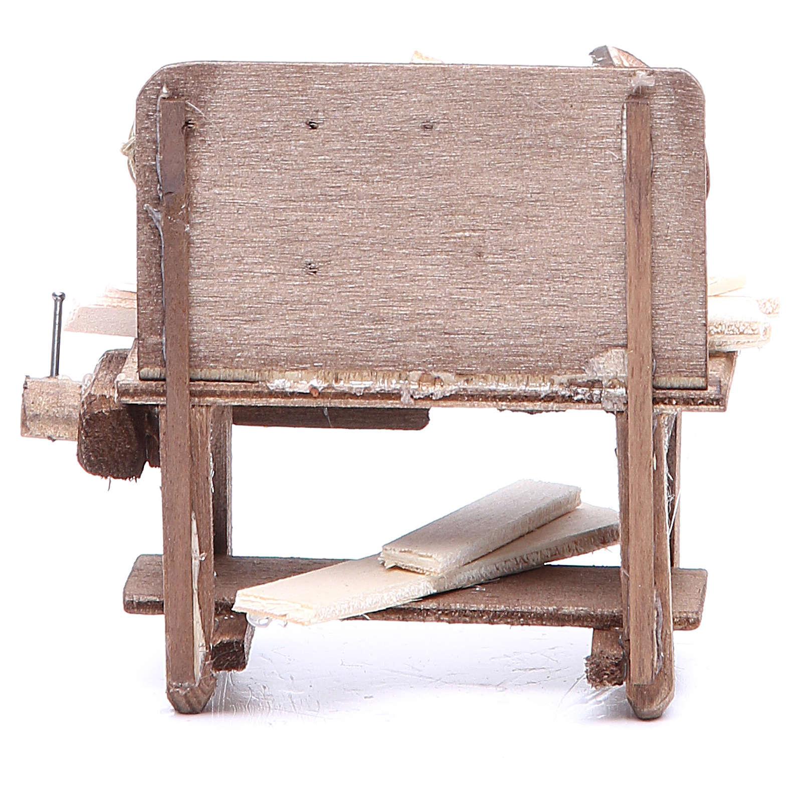 Mesa del carpintero 9x10x5 cm belén napolitano 4