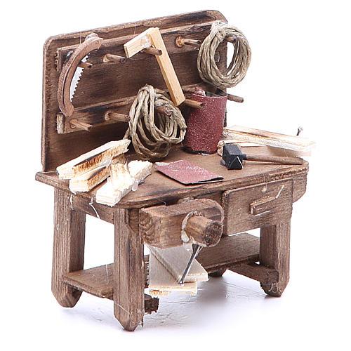 Mesa del carpintero 9x10x5 cm belén napolitano 3