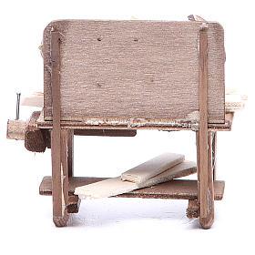 Carpenter's stall for Neapolitan Nativity measuring 9x10x5cm s4