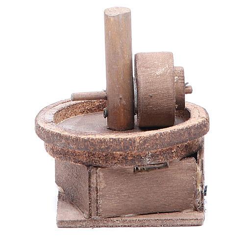 Moulin à huile 11x9 cm crèche napolitaine 1