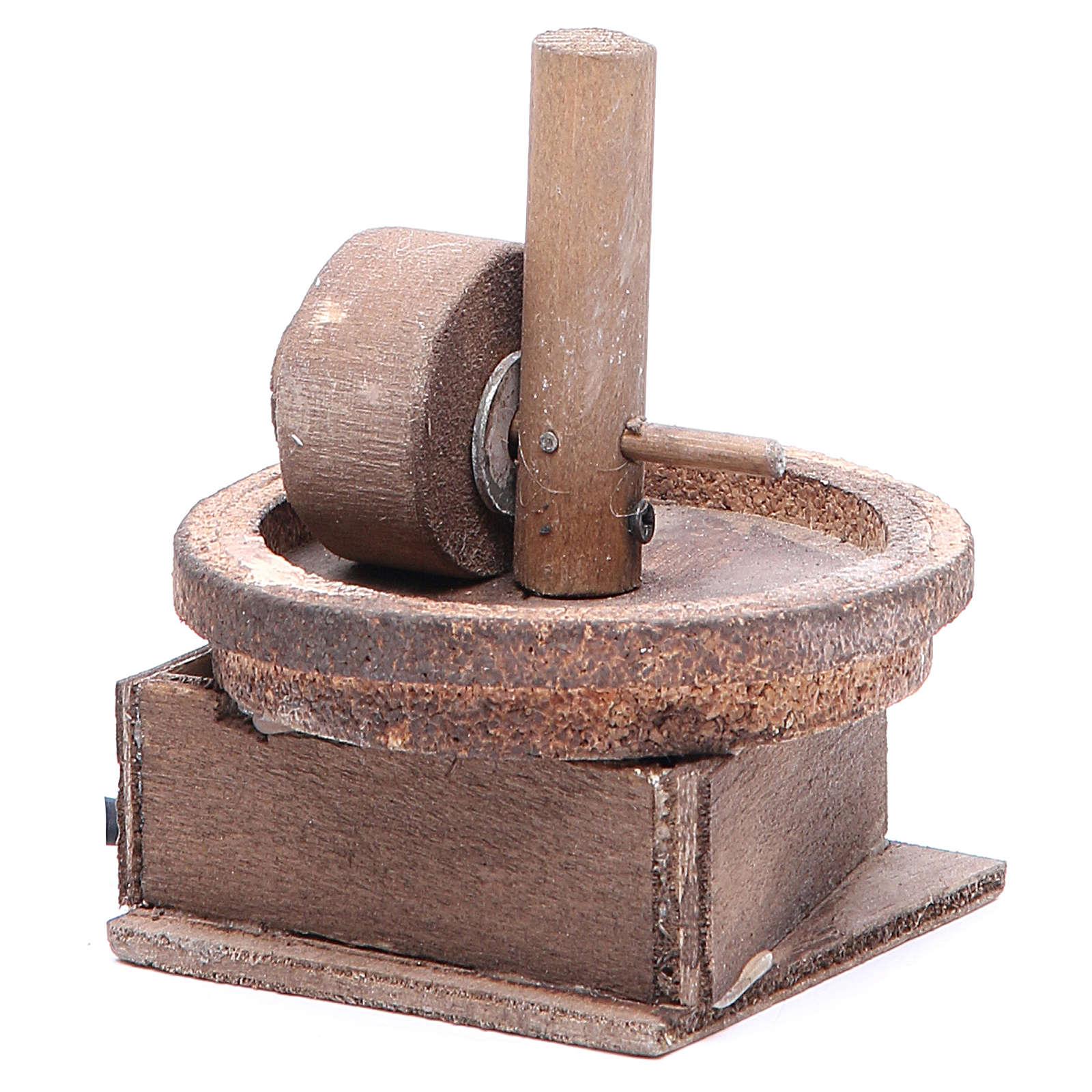 Electric olive oil press for Neapolitan Nativity measuring 11x9cm 4