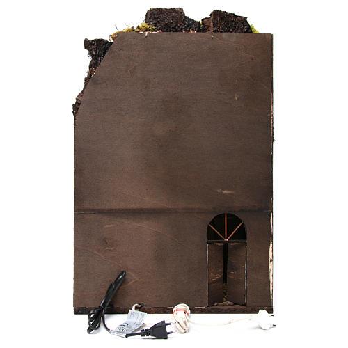 Burgo pesebre napolitano con fuente y luces 60x40x40 cm 4