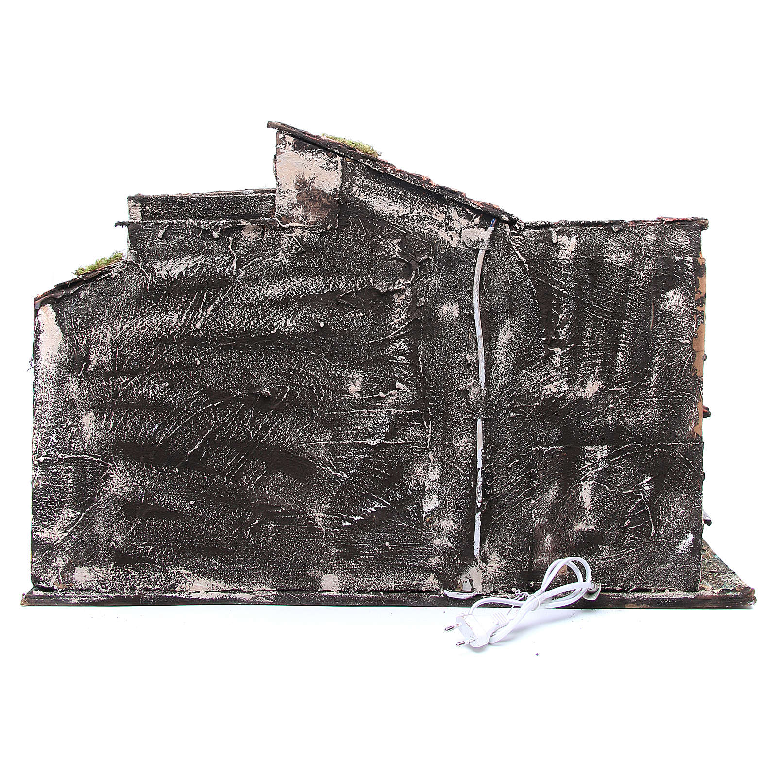 Chalet avec étable crèche napolitaine 48x71x36 4