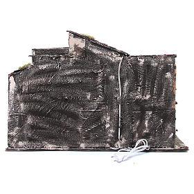 Chalet avec étable crèche napolitaine 48x71x36 s4