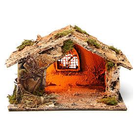 Neapolitan Nativity Scene: Small stable for Neapolitan Nativity scene measuring 20x14x13cm