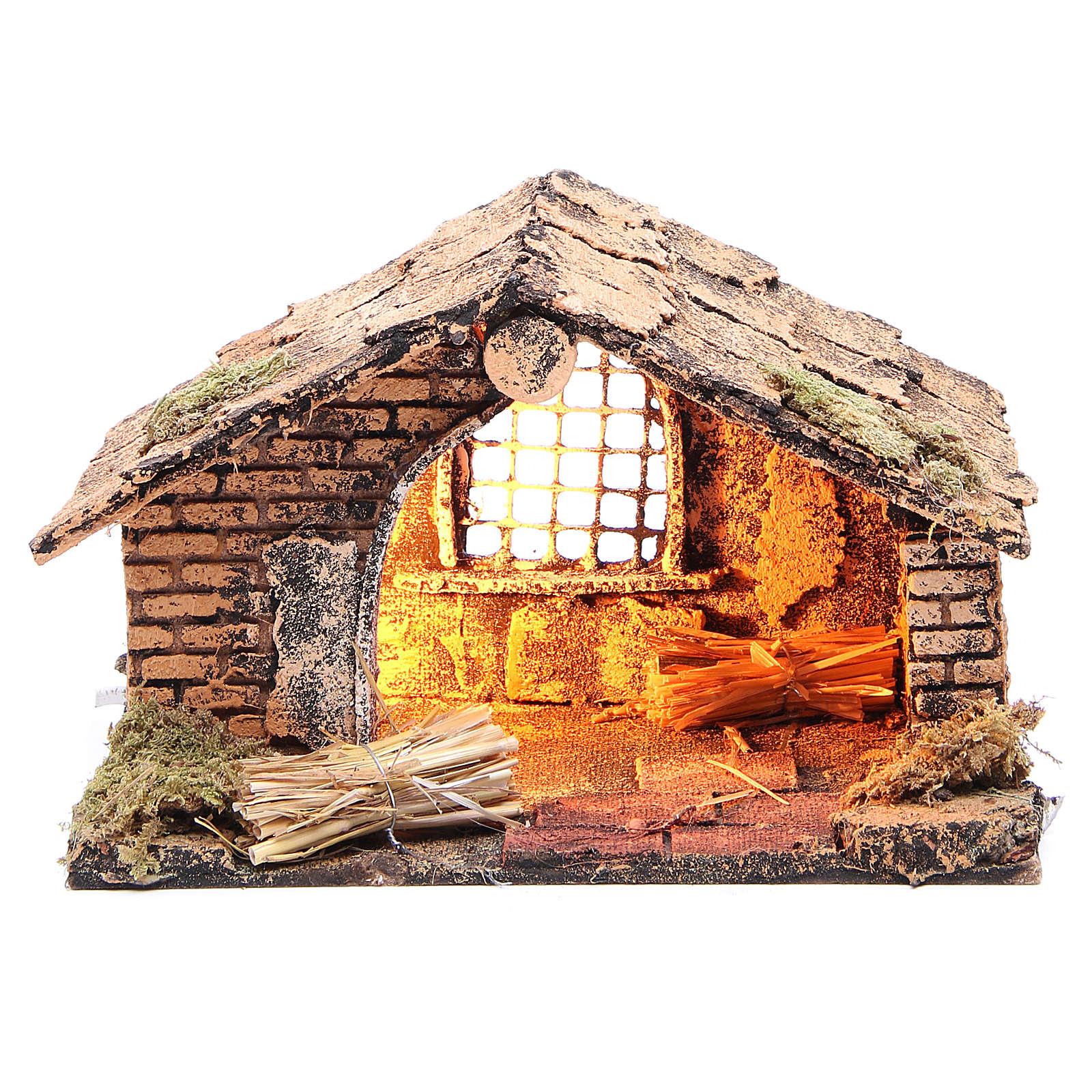Chalet de la Nativité 20x14x13 cm crèche napolitaine 4