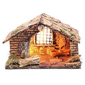 Chalet de la Nativité 20x14x13 cm crèche napolitaine s1