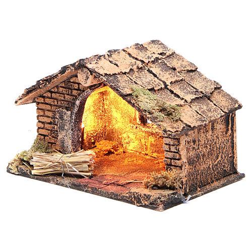 Chalet de la Nativité 20x14x13 cm crèche napolitaine 2