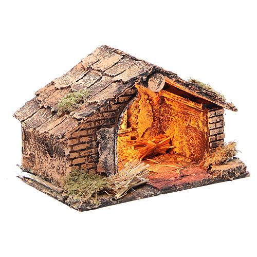 Chalet de la Nativité 20x14x13 cm crèche napolitaine 3