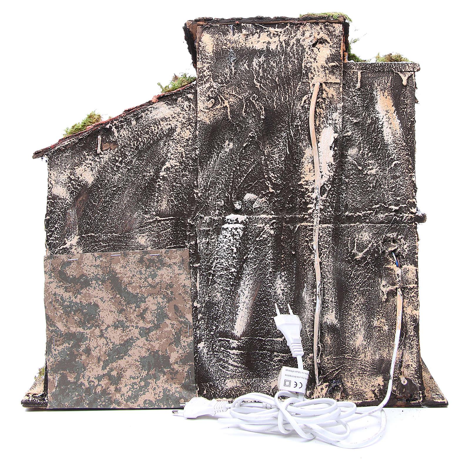 Maison avec cabane 44x48x29 cm crèche Naples 4