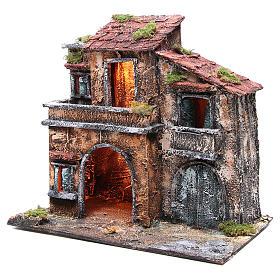 Maison avec cabane 44x48x29 cm crèche Naples s2
