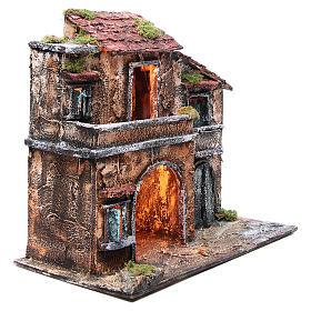 Maison avec cabane 44x48x29 cm crèche Naples s3