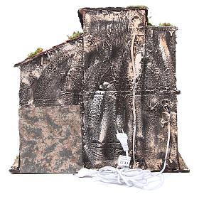 Maison avec cabane 44x48x29 cm crèche Naples s4
