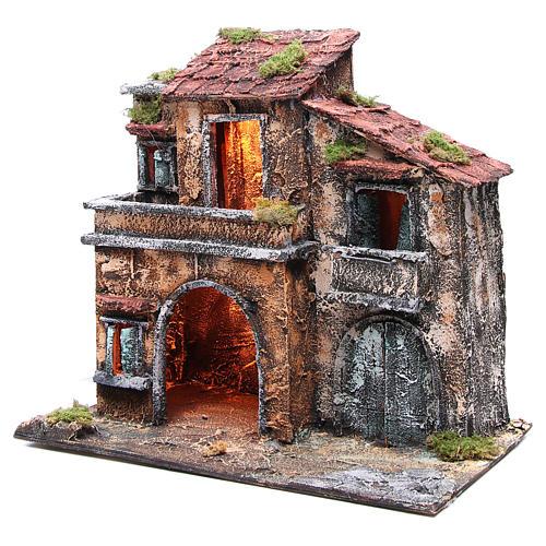 Maison avec cabane 44x48x29 cm crèche Naples 2