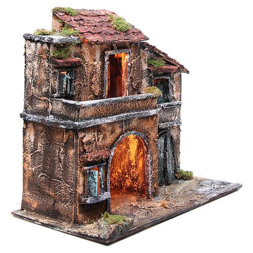 Maison avec cabane 44x48x29 cm crèche Naples 3