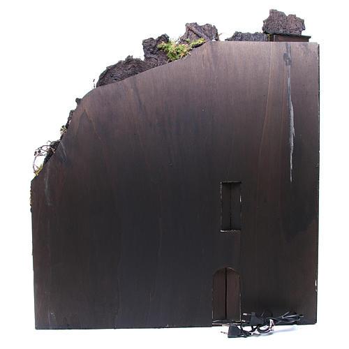 Bourg complet crèche Naples fontaine four moulin 80x70x40 cm 4