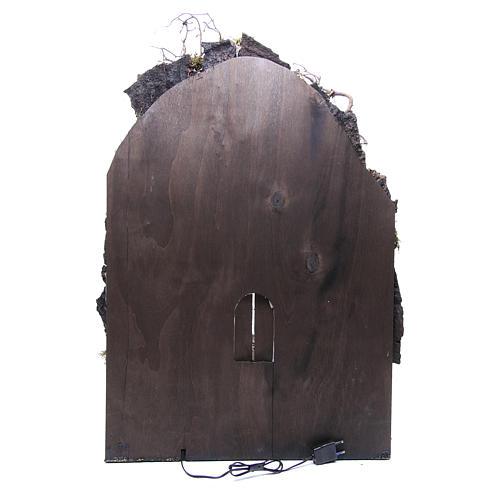 Bourg crèche Naples 75x50x50 cm éclairé 4