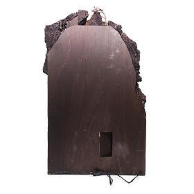 Pueblo iluminado belén napoiltano con molino 90x50x50 cm s4