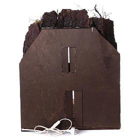 Aldeia presépio napolitano com estábulo iluminado 65x40x40 cm s4