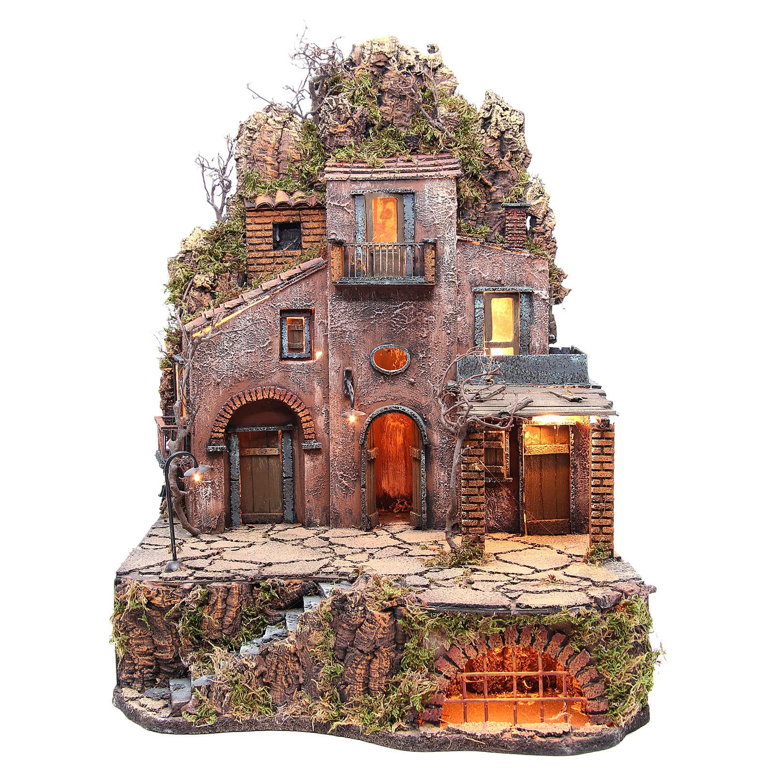 Village in the rocks for Neapolitan Nativity 70x50x50cm 4