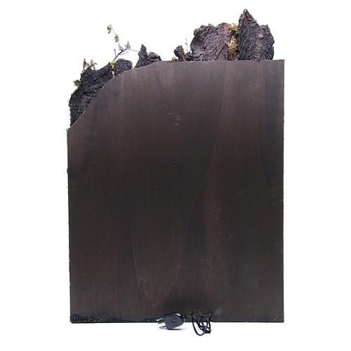 Borghetto con capanna presepe Napoli 74x50x50 cm 4