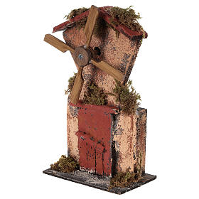Wooden windmill for Neapolitan Nativity measuring 20x10x6 cm s2