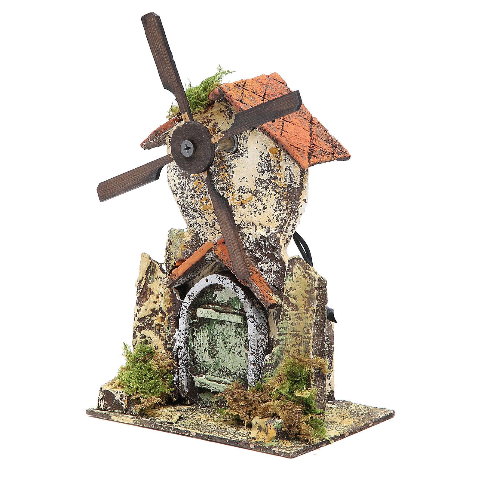 Moulin à vent 21x13,5x9 cm crèche Naples 4