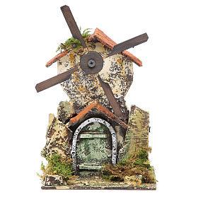 Moulin à vent 21x13,5x9 cm crèche Naples s1