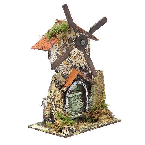 Moulin à vent 21x13,5x9 cm crèche Naples 3
