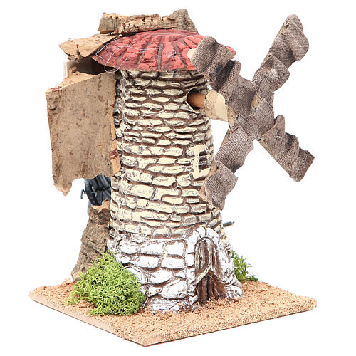 Wind mill for nativities in terracotta measuring 20x13x13cm 3