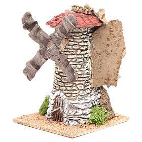 Moulin à vent crèche en terre cuite 20x13x13 cm s2