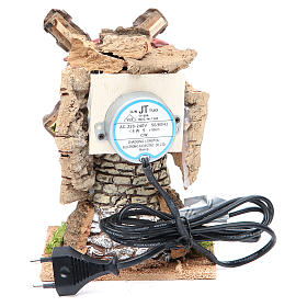 Moulin à vent crèche en terre cuite 20x13x13 cm s4