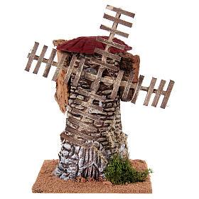 Mulino a vento terracotta 20x25x25 cm presepe s1