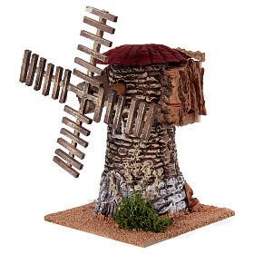 Mulino a vento terracotta 20x25x25 cm presepe s2