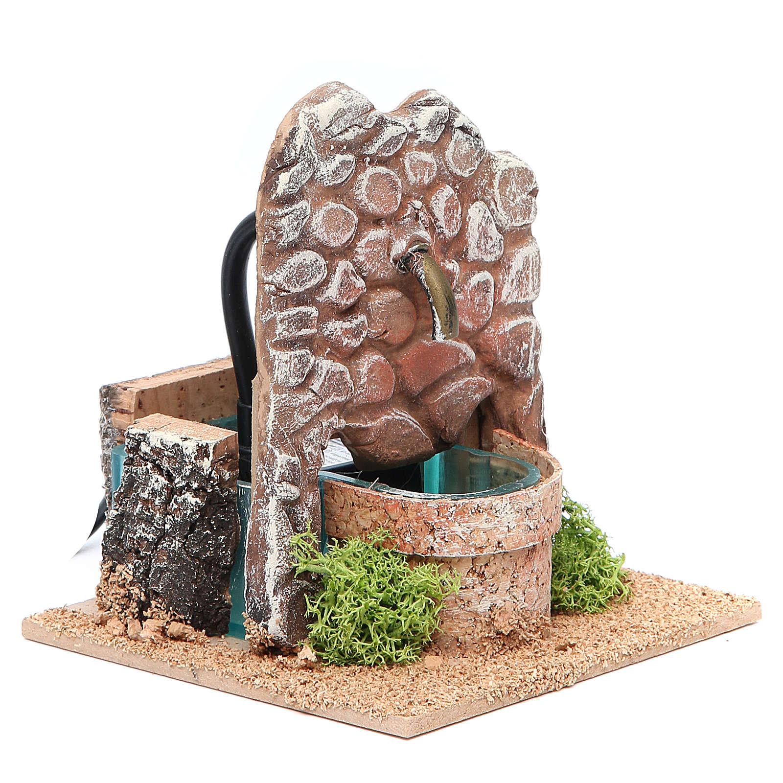 Fontana presepe in terracotta 13x12x12 cm 4