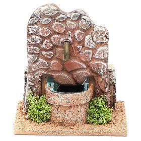 Fontana presepe in terracotta 13x12x12 cm s1